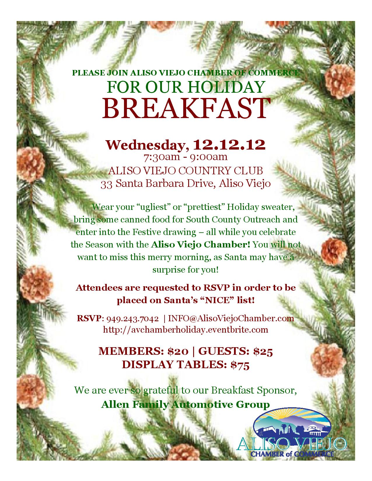 Aliso Viejo Chamber Holiday Breakfast — OC Lifestyle