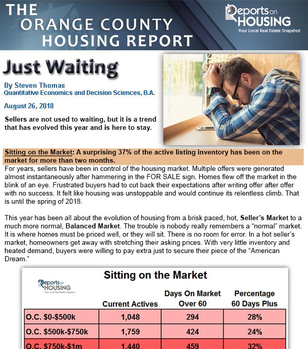 OC Housing Report-Just Waiting - OC Lifestyle — OC Lifestyle