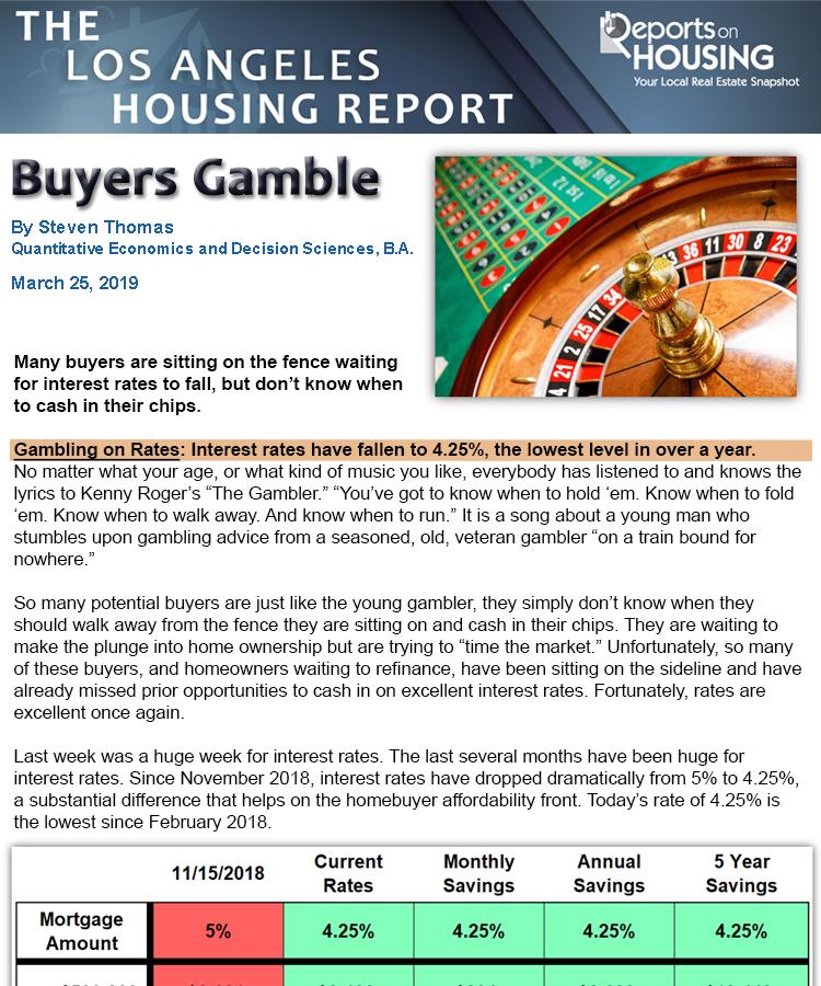 OC Housing Reports: Housing Abloom & Buyers Gamble - OC