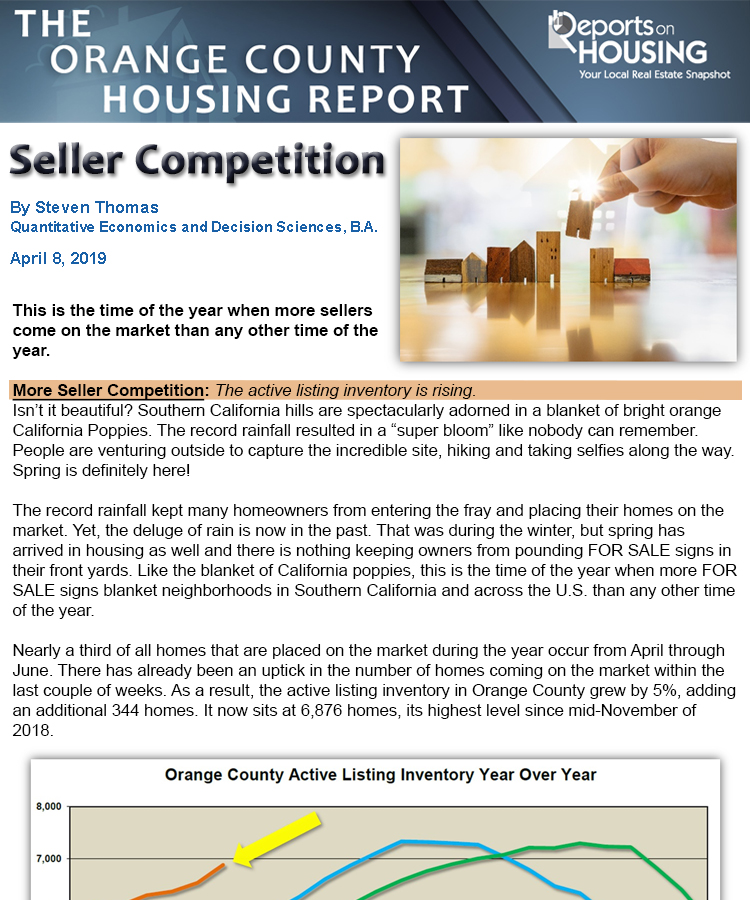 OC Housing Report: Seller Competition - OC Lifestyle — OC Lifestyle